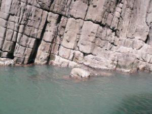 岩が不思議な形をしている