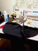 ケープ縫製中